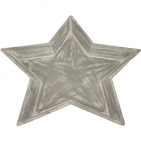 Dřevěný podnos hvězda velký