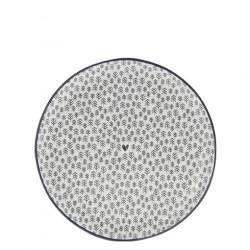 Talíř dezertní STROMKY, černá, 19 cm