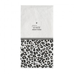 Ubrousky FOREVER CRAZY ABOUT FOOD, leopard, 16 ks