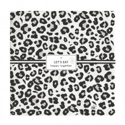 Ubrousky LET´S EAT, leopard, 20 ks