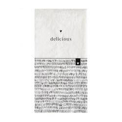 Ubrousky DELICIOUS, bílá, 16 ks