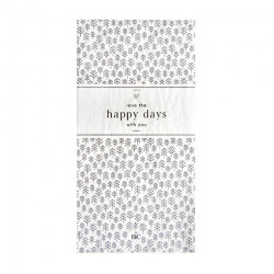 Ubrousky LOVE THE HAPPY DAYS WITH YOU, bílá, 16 ks