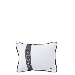 Polštář LOVE, bílá, šedá, 25x35 cm