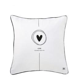 Povlak na polštář LOVE, béžová, 50x50 cm