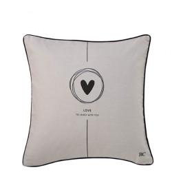 Povlak na polštář LOVE, bílá, 50x50 cm