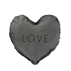 Polštář SRDCE LOVE, černá, 50x51 cm