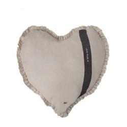 Polštář SRDCE LOVE RULES, bílá, 50x51 cm