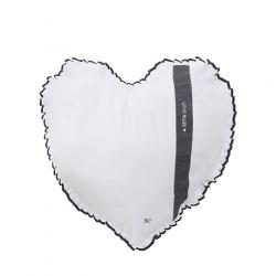 Polštář SRDCE LOVE RULES, natural, 50x51 cm