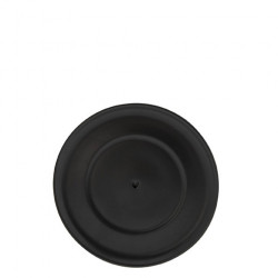 Podšálek SRDÍČKO, černý mat, 15 cm