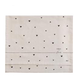 Napron TABLE STORIES, natural, 50x160 cm