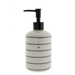 Dávkovač mýdla PROUŽKY, béžová, 350 ml