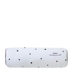 Polštář HAPPY TOGETHER, srdíčka, bílá, 50x15 cm