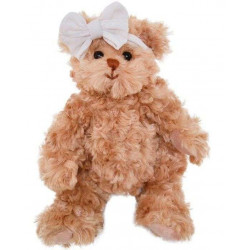 BK LITTLE DANIELS GIRLFRIEND medvídek s mašlí, 25 cm