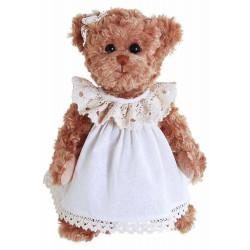 BK SISTERS medvěd, v šatech, hnědá, 30 cm