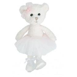BK CLARA medvěd baletka, bílá, 15 cm