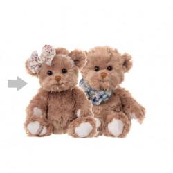 BK MILLIE medvěd, mašle na hlavě, 25 cm