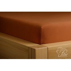 Prostěradlo jersey Čokoládové Barva: čokoládová, Rozměr matrace: 180/200/20