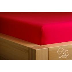 Prostěradlo jersey Červené Barva: červená, Rozměr matrace: 180/200/20
