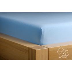 Prostěradlo jersey Světle modré Barva: světle modrá, Rozměr matrace: 140/200/20