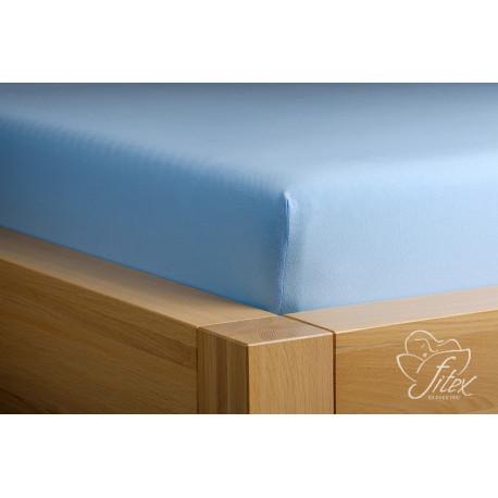 Prostěradlo jersey Světle modré Barva: světle modrá, Rozměr matrace: 200/220/20
