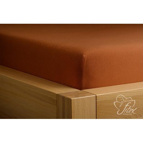 Fitex Prostěradlo jersey Čokoládové Barva: čokoládová, Rozměr matrace: 200/220/20