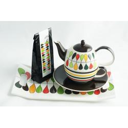 Tea for One 0,4l a 0,25l s podnosem 31x18cm a čajem 50g Trubač