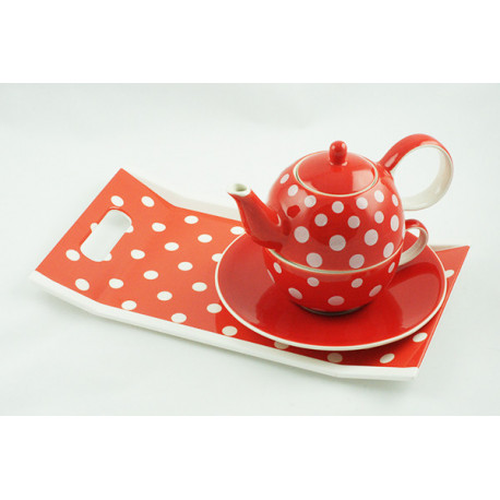 Tea for One 0,4l a 0,25l s podnosem 31x18cm Puntík