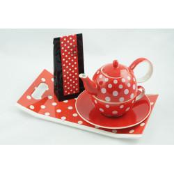 Tea for One 0,4l a 0,25l s podnosem 31x18cm a čajem 50g Puntík