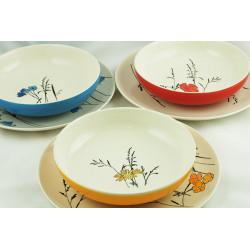 Sada talířů Louka, mix barev