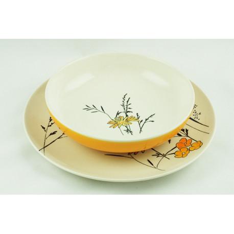 Sada talířů Louka žlutá