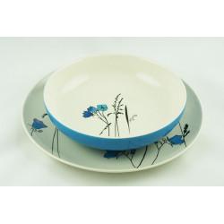 Sada talířů Louka modrá