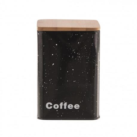 Dóza plech/dřevo 9,5x9,5x14 cm COFFEE MRAMOR