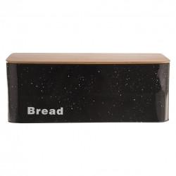 Chlebovka plech/dřevo 42x22,5x16 cm BREAD MRAMOR