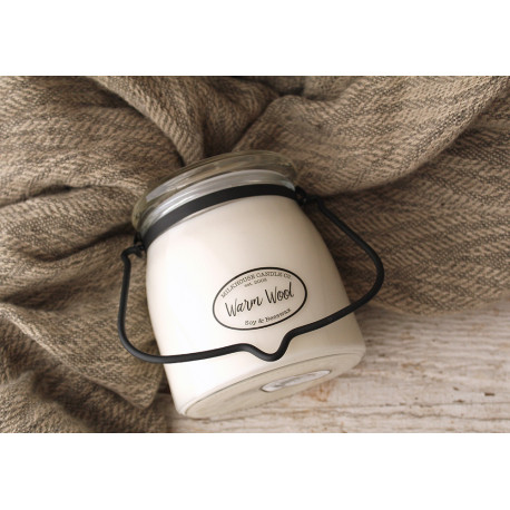 MILKHOUSE CANDLE Warm Wool vonná svíčka BUTTER JAR 2-knotová (454 g)
