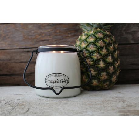 MILKHOUSE CANDLE Pineapple Gelato vonná svíčka BUTTER JAR 2-knotová (454 g)