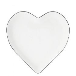 Podnos ve tvaru srdce, černá