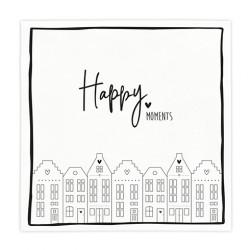 """Ubrousky """"Happy Moments"""", šedá, 20 ks"""