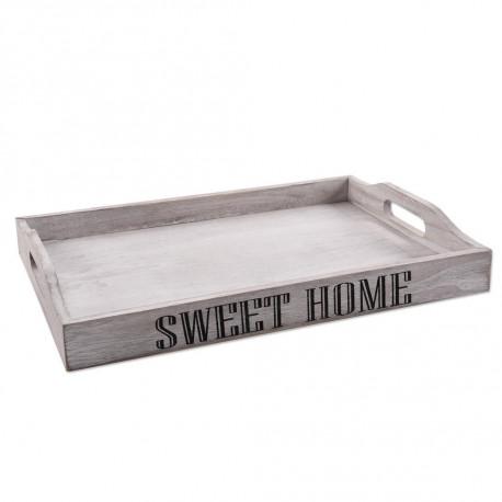 Tác dřevo s uchy 38x26x5,5 cm SWEET HOME
