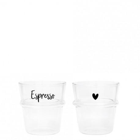 Sklenice na Espresso, srdce