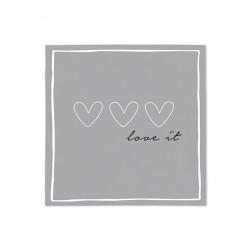 "Ubrousky ""Love it"", šedá, 20 ks"