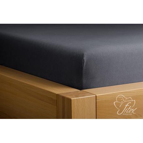 Prostěradlo jersey Antracitové Barva: tmavě šedá-antracit, Rozměr matrace: 120/220/20