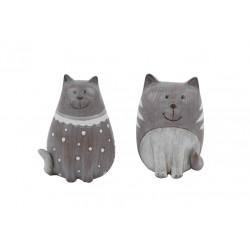 Dekorace kočička, tmavě šedá, velká