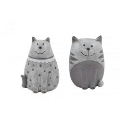 Dekorace kočička, šedá, malá