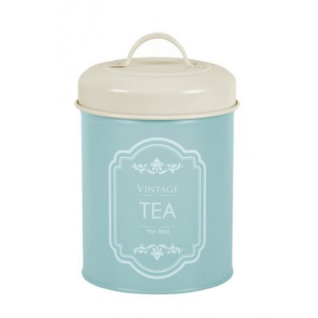 Dóza na čaj, modrá