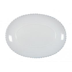 Tác oválný PEARL, 30 cm, bílá