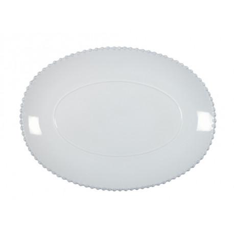 Tác oválný PEARL, 40 cm, bílá