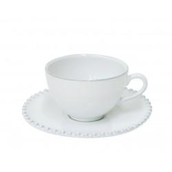 Šálek na čaj PEARL, 250 ml, bílá