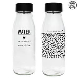 Karafa WATER, leopard, černá, 1 l