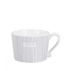 Hrnek COFFEE, pruhy, šedá, 270 ml