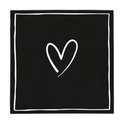 Ubrousky bílé srdce, 20 ks